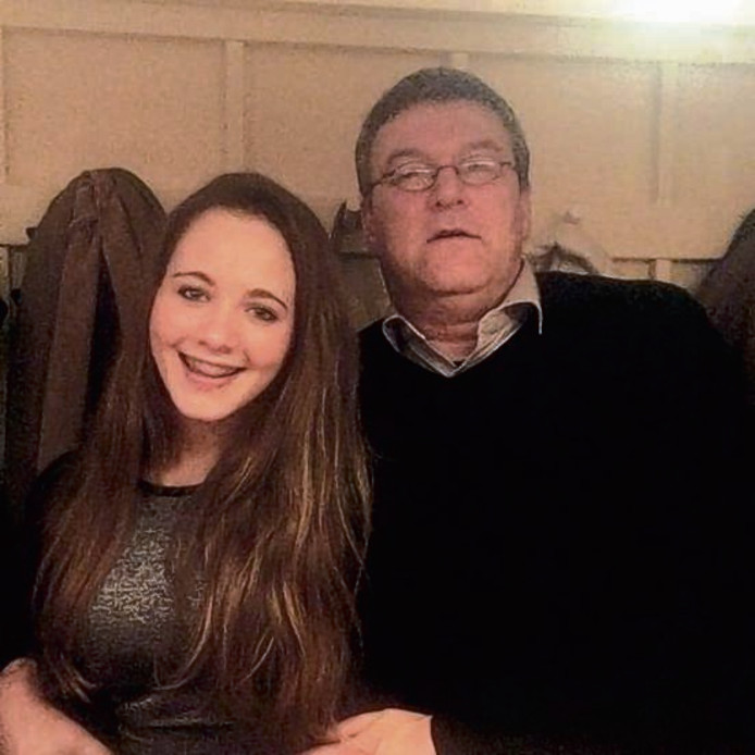 Dascha en haar vader.