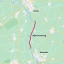 De Rijksstraatweg (N337) tussen Deventer en Zwolle.