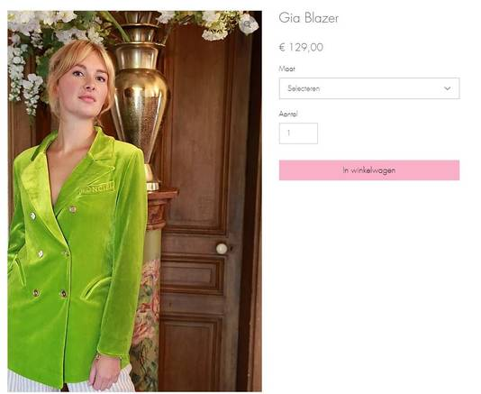 Maxime noemt haar jasje de Gia Blazer.