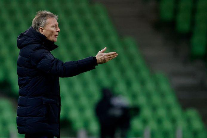 Trainer Frank Wormuth is zaterdag weer begonnen bij Heracles.