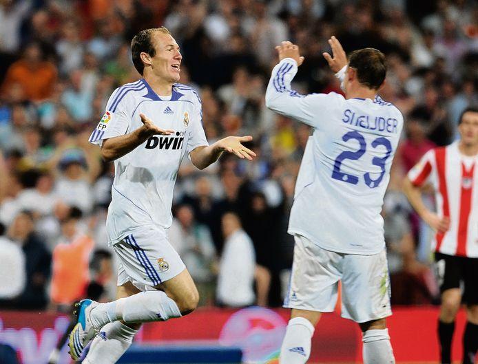 Arjen Robben en Wesley Sneijder.