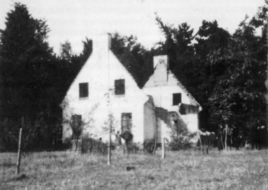 De resten van het huis van de familie Neefs.