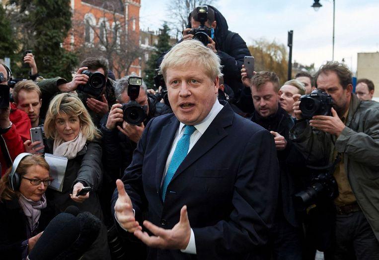 De Londense burgemeester Boris Johnson is voorstander van de Brexit. Beeld afp
