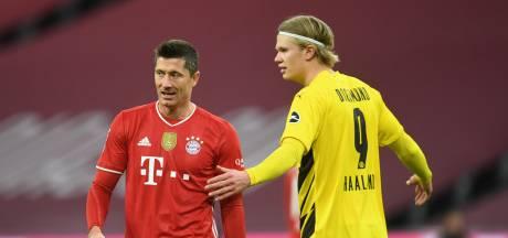 Duel der superspitsen: Haaland imponeert, maar op Lewandowski staat geen maat