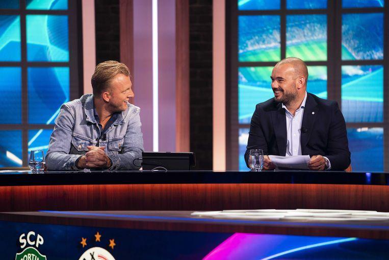 Dirk Kuijt en Wesley Sneijder. Beeld ANP
