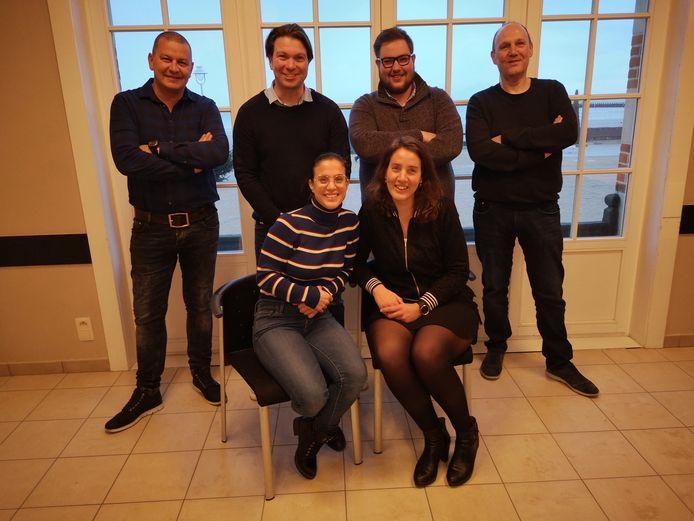 Michael Truyens, Darka Laury, Jeffrey Devooght, Marc Delen, Nele Decorte en Nicolas Vermote.