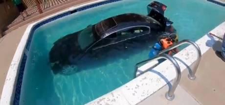 Un jeune conducteur finit sa course dans la piscine familiale