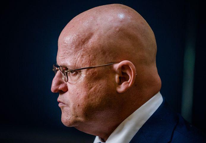 Demissionair minister Ferd Grapperhaus van Justitie en Veiligheid (CDA).