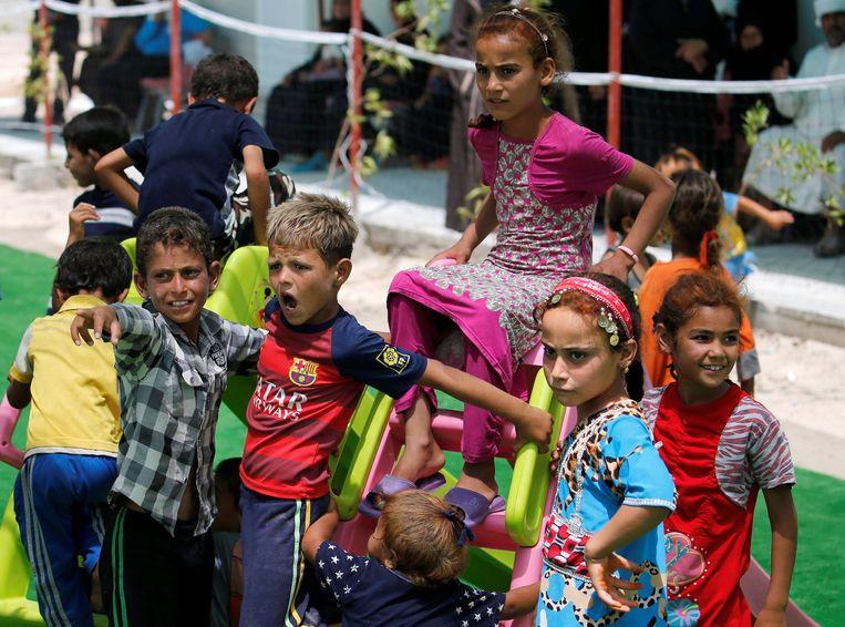 Vluchtelingen uit Falluja. Beeld reuters