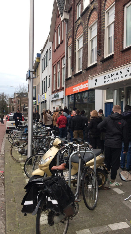 Ook in Zwolle is het druk.