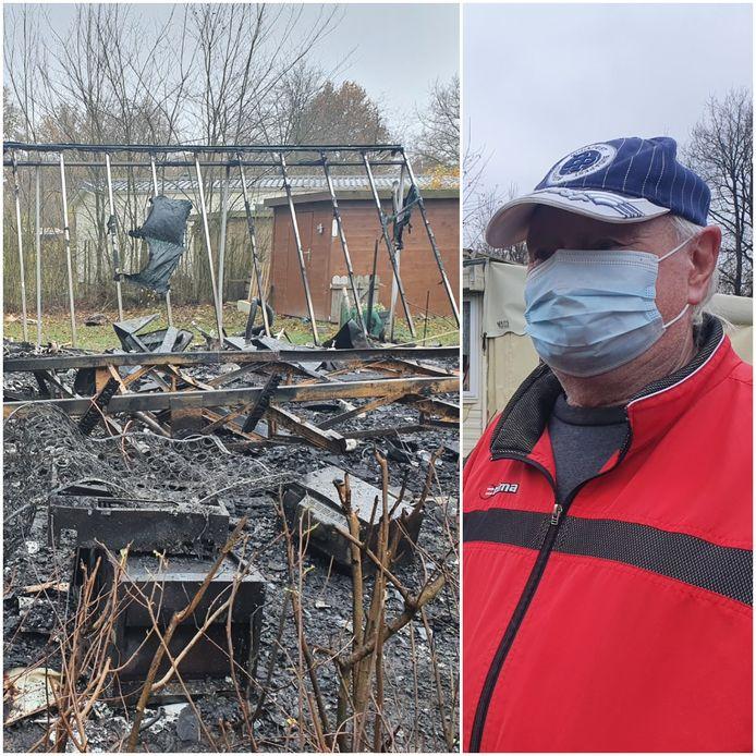 Gustaaf Genar was als eerste bij de brand van zijn buurvrouw op de camping Baalse Hei in Turnhout.