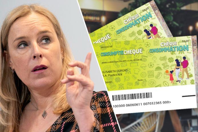 Dat zal er volgens staatssecretaris voor Consumentenbescherming Eva De Bleeker (Open Vld) toe bijdragen dat de werknemers de cheques effectief zullen opgebruiken.