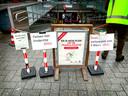 In de grote ondergrondse stationsstalling bij Leiden CS is geen plek meer voor grote fietsen en e-bikes.