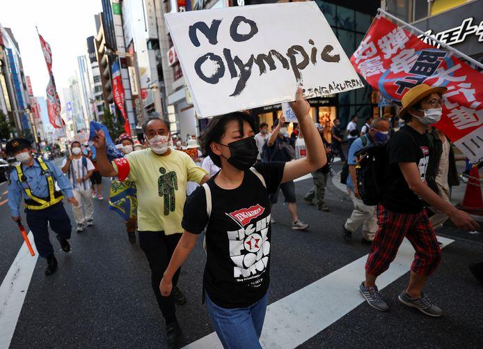 Protesten tegen de Olympische Spelen.
