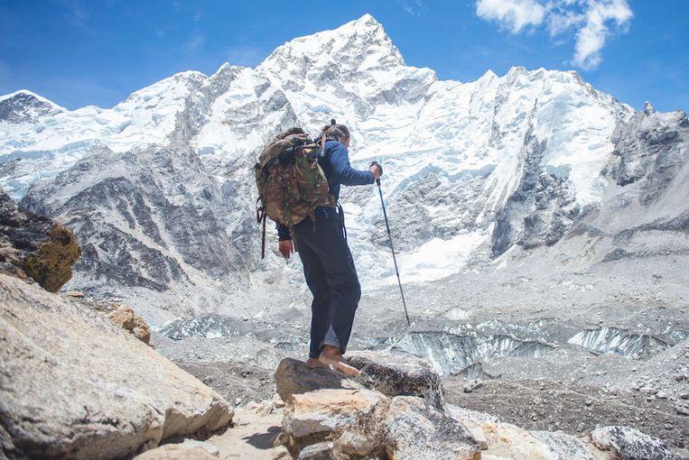 Anton Nootenboom trok al op blote voeten door de Himalaya.  Beeld Anton Nootenboom