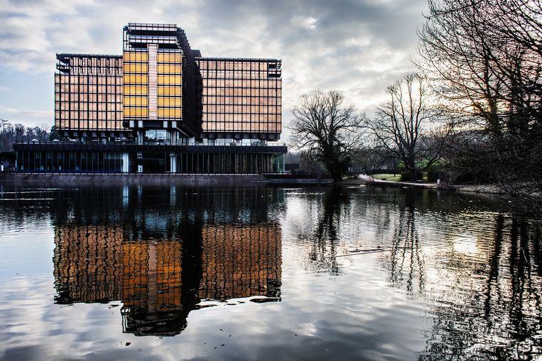 Het voormalige AXA gebouw aan de Vorstlaan 25 in Watermaal-Bosvoorde wordt de nieuwe hub voor Artificial Intelligence. Beeld Bob Van Mol