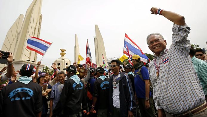 Suthep Thaugsuban et les partisans de l'opposition