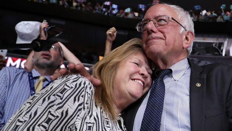 Jane en Bernie Sanders. Beeld afp