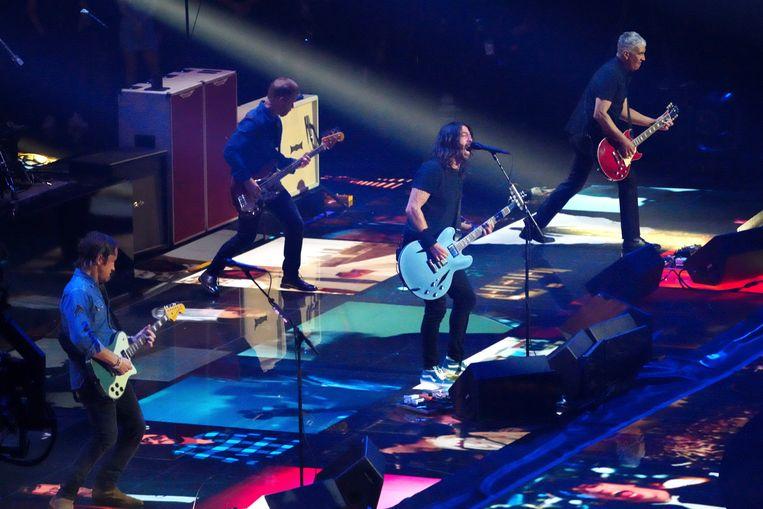De Foo Fighters kregen de 'Global Icon Award' mee naar huis. Beeld Charles Sykes/Invision/AP