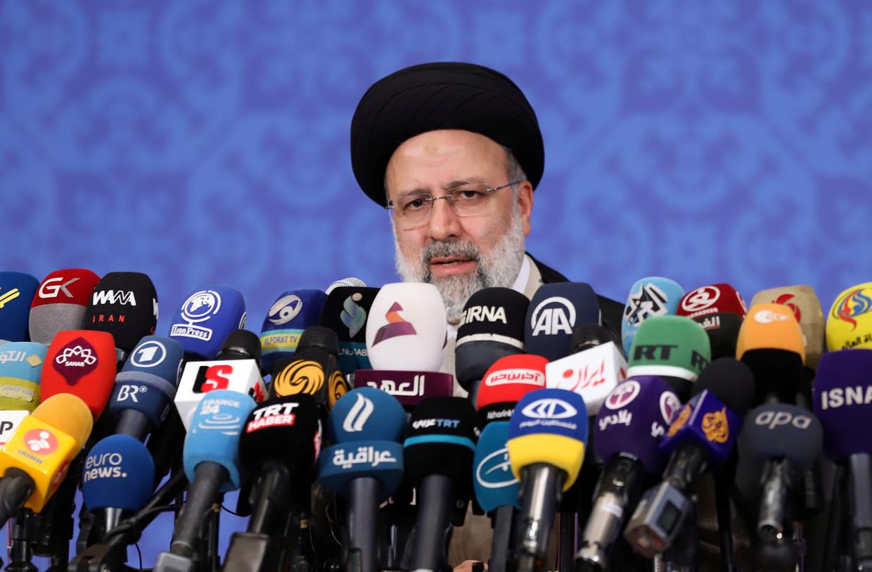 Ebrahim Raisi, de omstreden nieuwe president van Iran.  Beeld Via Reuters