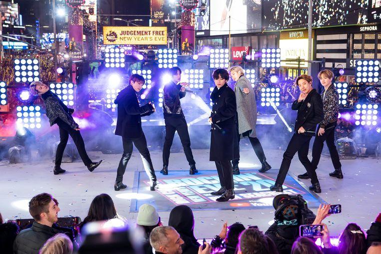 De Koreaanse groep BTS in New York. Beeld AP