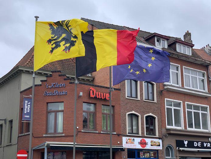 Vlaggen in Vilvoorde.