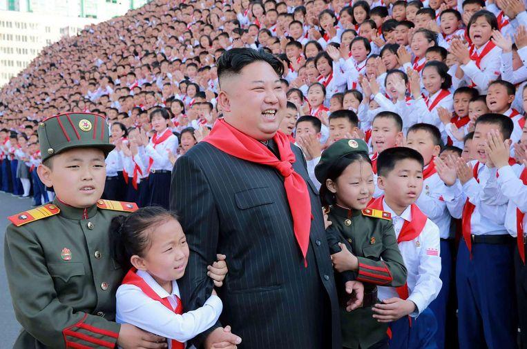 De Noord-Koreaanse dictator Kim Jong-un. Beeld afp