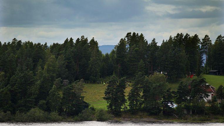 Het Noorse eiland waar Anders Breivik 68 mensen doodschoot. Beeld getty