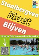 Actiegroep Hard voor 't Staal hangt posters weg in Oisterwijk met als oproep 'Staalbergven moet blijven'