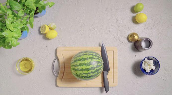 Een watermeloen.