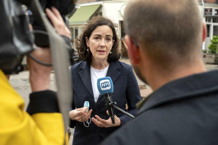 Burgemeester Famke Halsema van Amsterdam behoort tot de vijftien ondertekenaars van de oproep. Beeld ANP