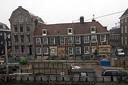 De verzakte panden aan de Vijzelgracht in Amsterdam.