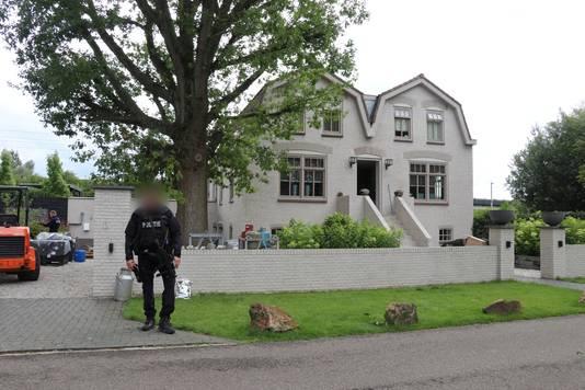 De villa in Vleuten waar een lab werd opgerold waarin synthetische drugs werden gefabriceerd.