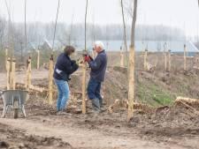 Vrijwilligers planten 185 bomen op Zwaaksedijk bij Kwadendamme