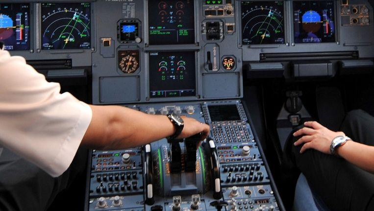 Cockpit van een airbus A320. Beeld afp