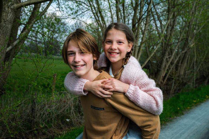 Renée Van Cauwenbergh (10) en haar broer Dries (13) hebben al mooie rollen op hun palmares.