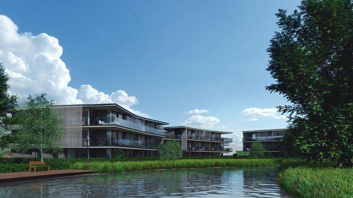 In een eerste fase werden er al 47 flats opgetrokken in het binnengebied.