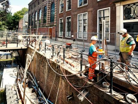 Kromme Nieuwegracht al maanden een bouwput