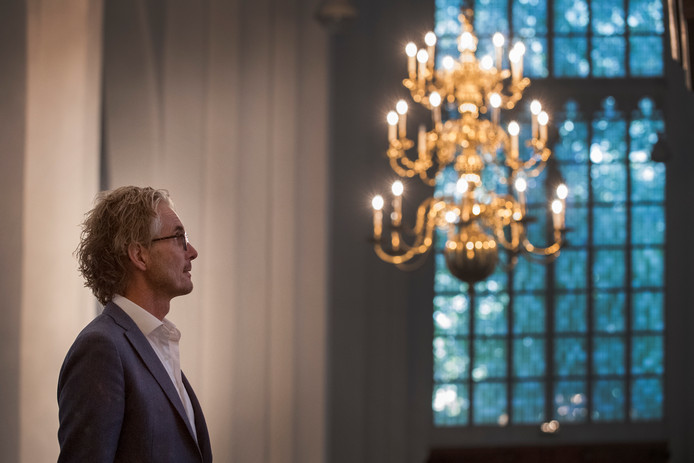 Tiel 02/10/2019 Geert - Jan van der Sangen in de St Maartenskerk iov Gelderlander foto Raphael Drent