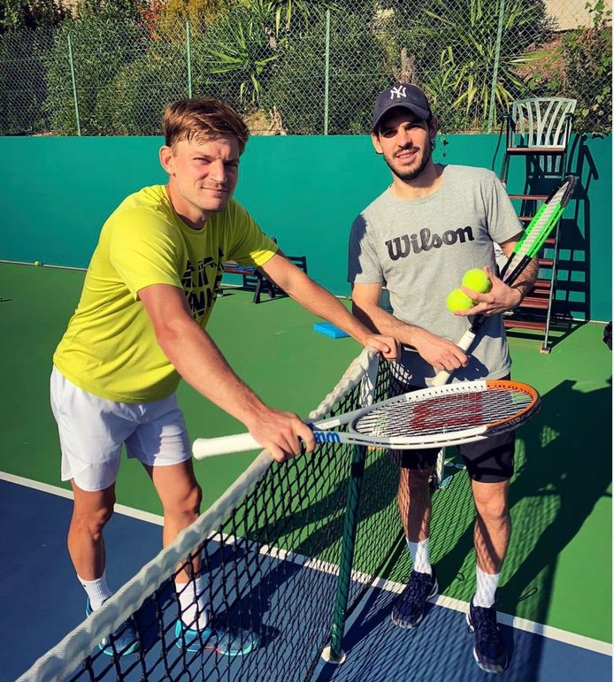 David Goffin et son coach Germain Gigounon   I am really happy to announce that Germain Gigounon is joining my team as my new coach. We've known each other for many years and we have always shared the same passion for tennis. I am really excited to start this new season with him