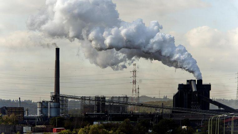 De Arcelor Mittal-fabriek in Luik. Beeld BELGA