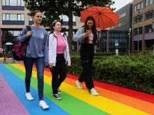 Regenboogbankje en regenboogpad onthuld in Gorinchem