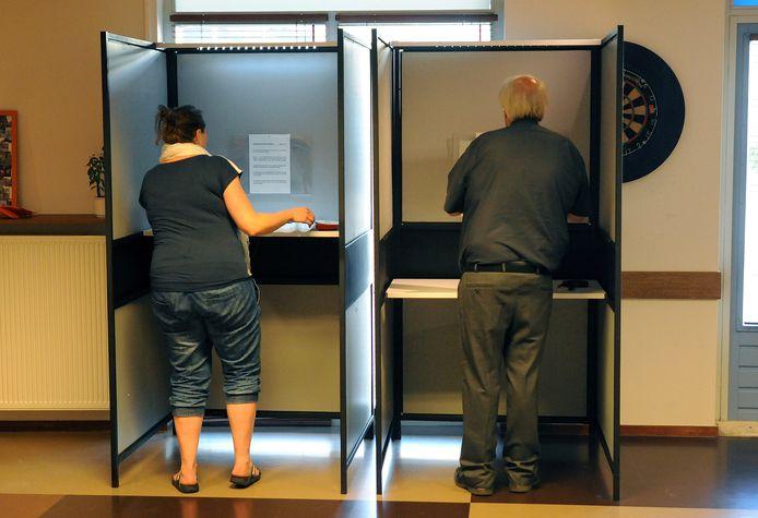 Het stemlokaal aan de Bieslandsekade tijdens eerdere verkiezingen.