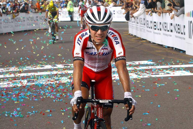 De Spanjaard Joaquim Rodriguez kan morgen voor de derde keer op rij de Ronde van Lombardije op zijn naam schrijven. Beeld Tim De Waele
