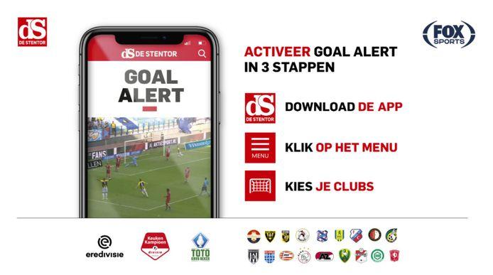 Goal alert in 3 stappen