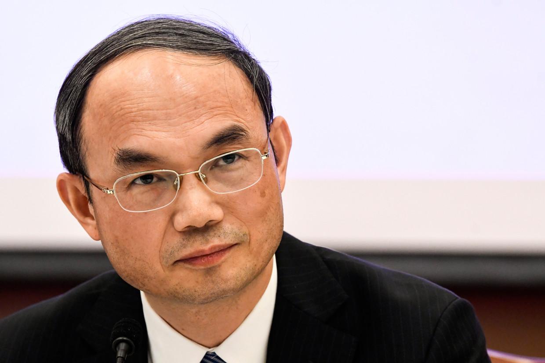Cao Zhongming, ambassadeur van China in België Beeld Photo News