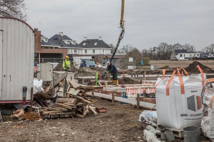 Woningen in aanbouw in de wijk Sonniuspark in Son en Breugel