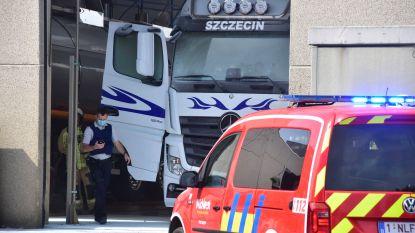 Poolse chauffeur lichtgewond bij brand in eigen truck
