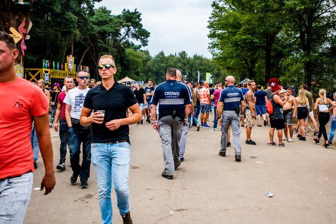 De beveiliging nam tijdens Decibel Outdoor Festival 2018 het toezicht van de politie over.