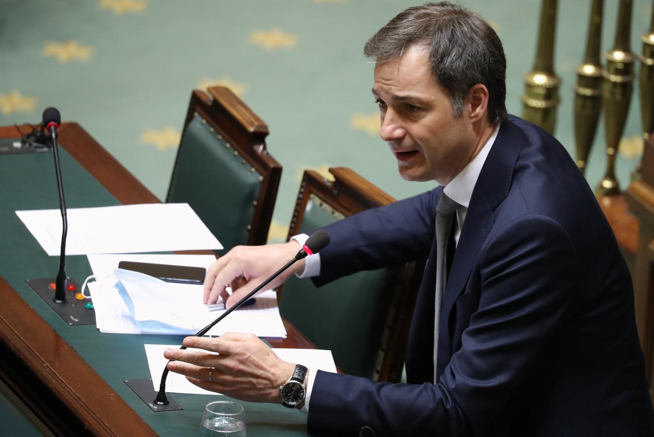 Le Premier ministre Alexander De Croo (Open-VLD)
